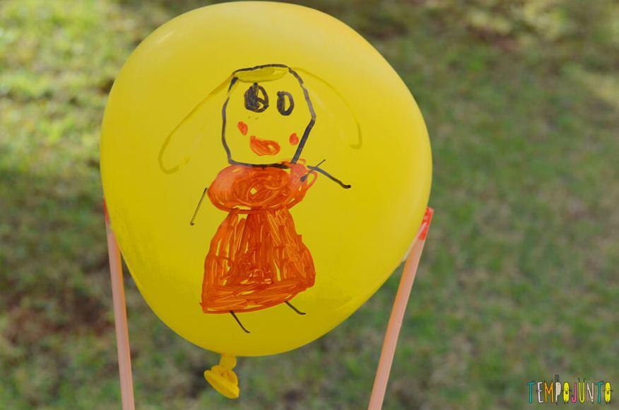 Balão copo descartável - desenho na bexiga