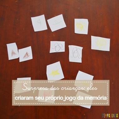 Um jogo da memória feito pelas próprias crianças