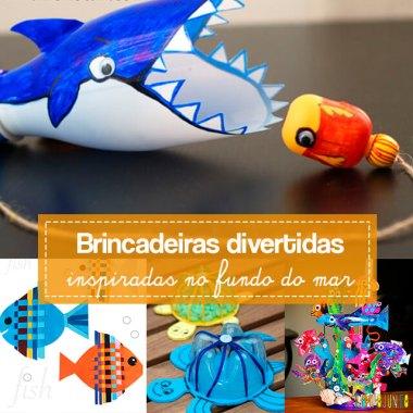 10 ideias criativas para brincar de fundo do mar