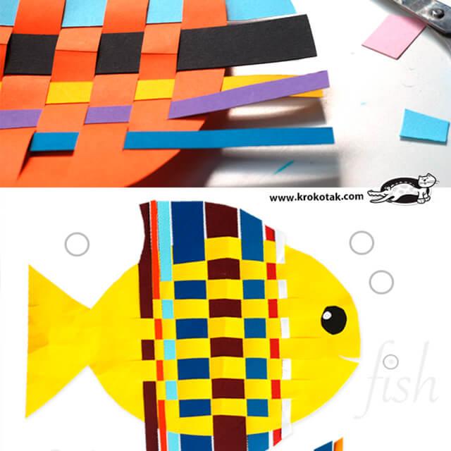 10 ideias criativas para brincar de fundo do mar - peixe de papel