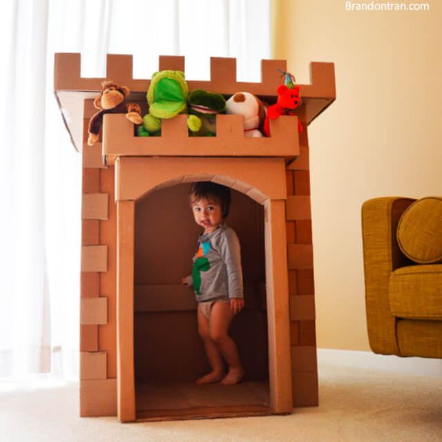 10 maneiras diferentes de criar um castelo para as crianças - castelo para entrar dentro