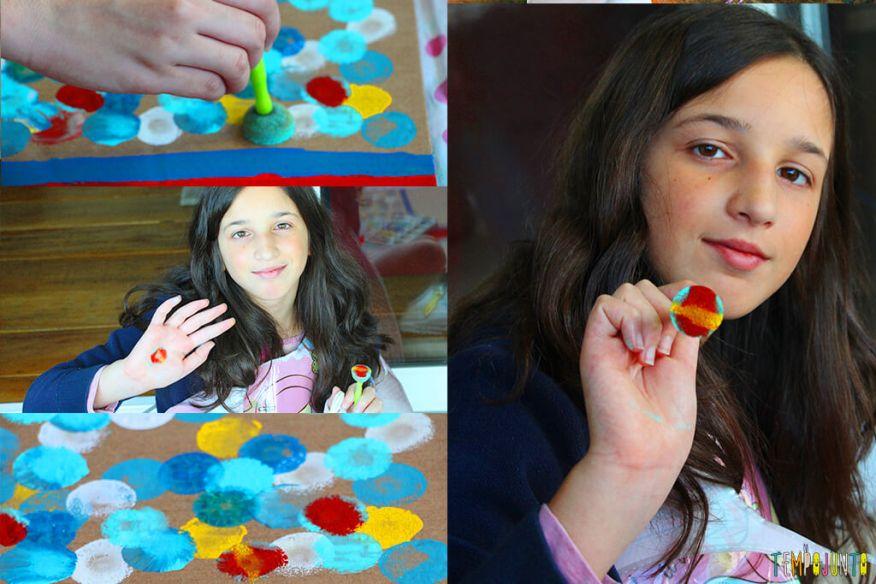 Atividade de artes para estimular a brincadeira de imaginação - carol pintando