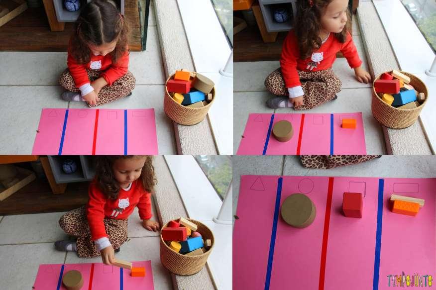 Atividade de raciocínio para crianças pequenas - gabi colocando as pecas no lugar