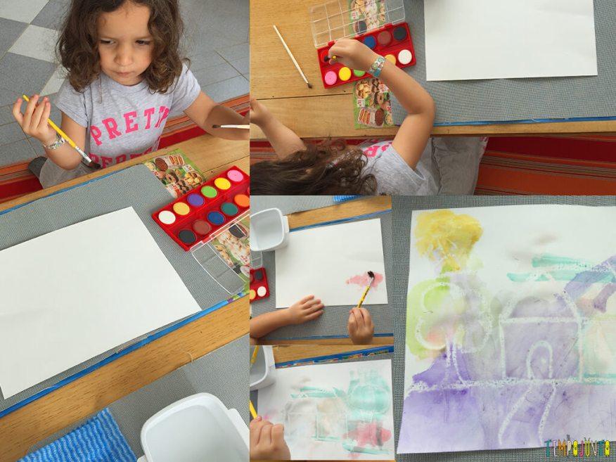 atividade de artes com desenho secreto