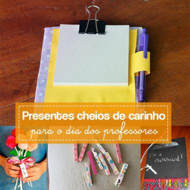 10 ideias de presentes feitos pelas crianças para o Dia dos Professores