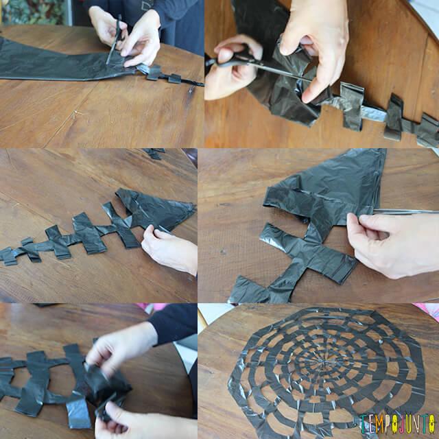 Como decorar uma festa de Halloween - parte 2 - processo teia de aranha