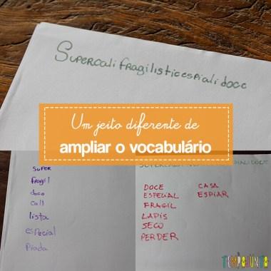 Jogo de palavras cruzadas para crianças
