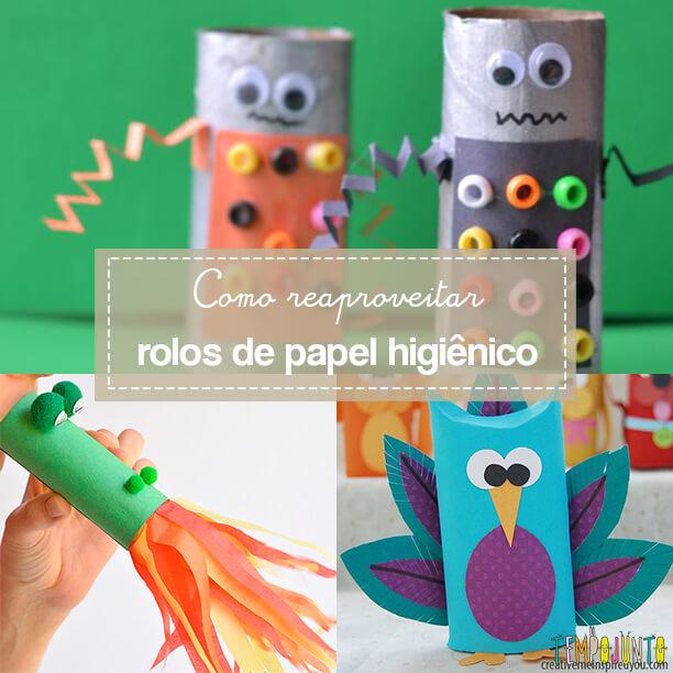 10 ideias para reaproveitar rolos de papel higiênico