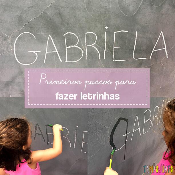 Como ensinar o traçado das letras
