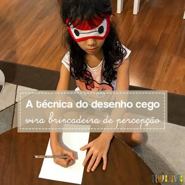 Desenho cego é uma forma de criar a partir das memórias das crianças