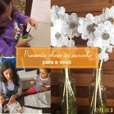 Presente criativo para avó feito pelas crianças