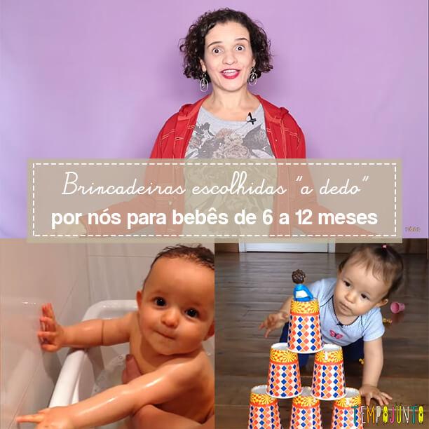 10 top brincadeiras para bebês de 6 a 12 meses