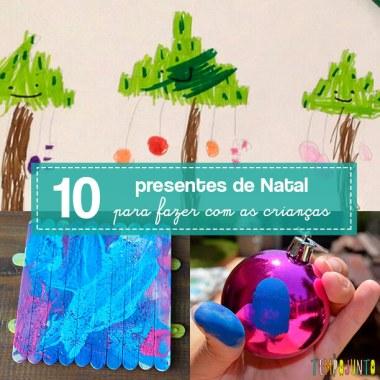 10 lindos presentes de Natal – simples e baratos – para fazer com as crianças