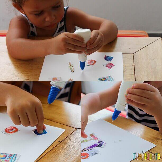 melhores brincadeiras para crianças de 4 anos com colagem