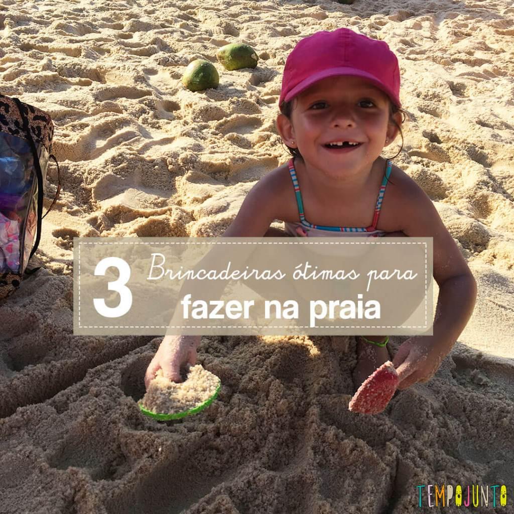 Coisas legais para fazer na praia com crianças