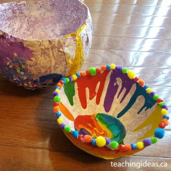 bowl feito com papel machê