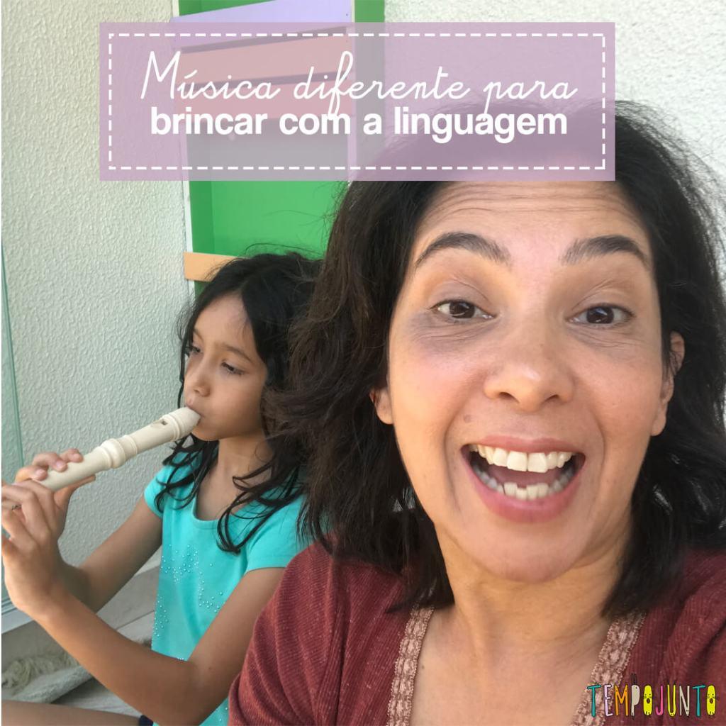 Música para atividade de linguagem e alfabetização dos filhos