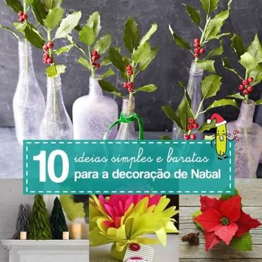 10 ideias de enfeites de papel crepom para o Natal
