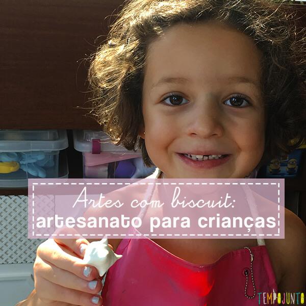 Atividades de artes com biscuit: artesanato para crianças