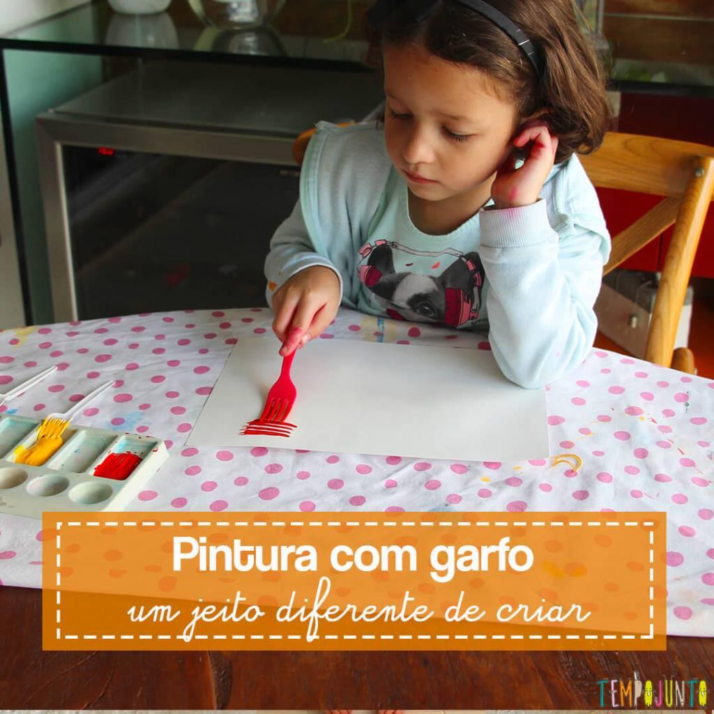 Atividades de artes: pintura com garfo