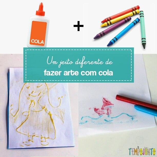 Atividades criativas com papel e cola