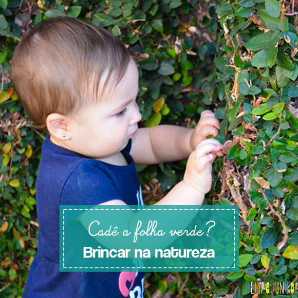 Brincadeira na natureza para bebês  explora cores e percepções