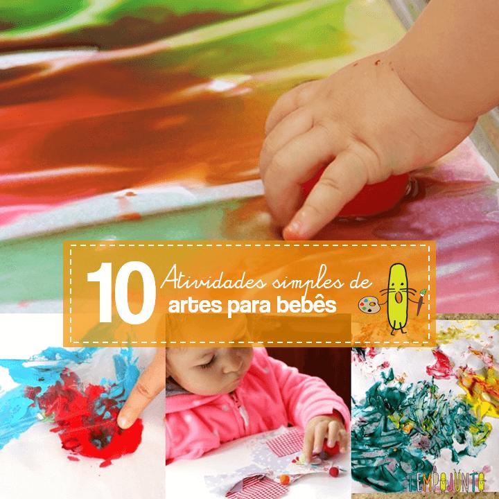 10 brincadeiras de artes para bebês