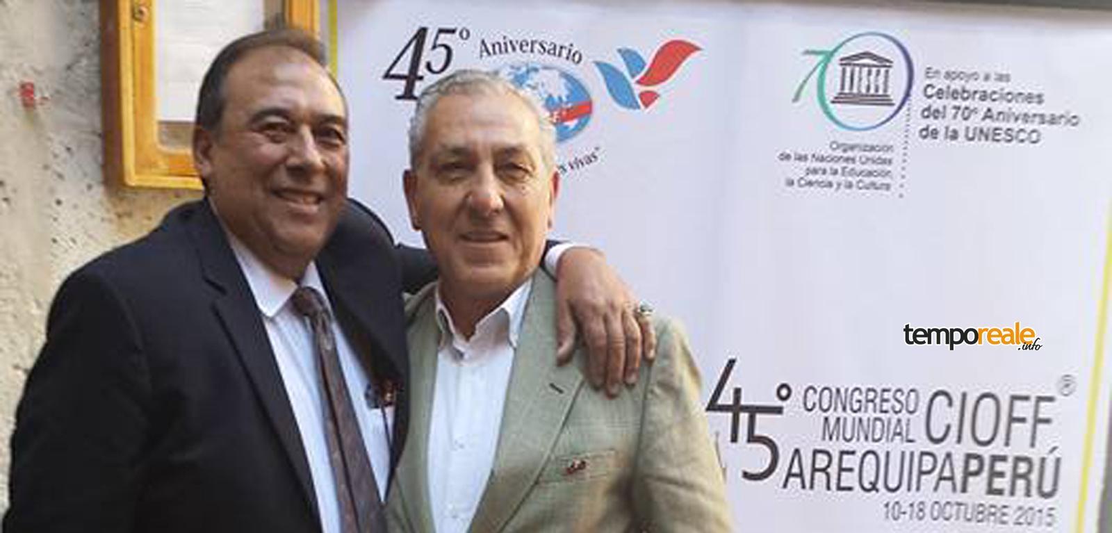 Francesco Mallozzi con Victor Barriga Gallegos
