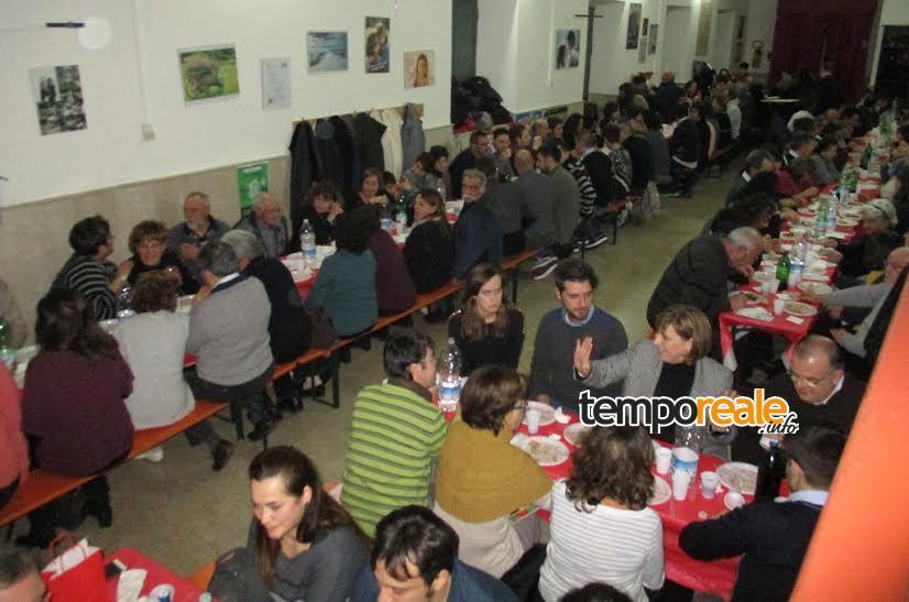 coreno ausonio cena beneficenza progetto toco