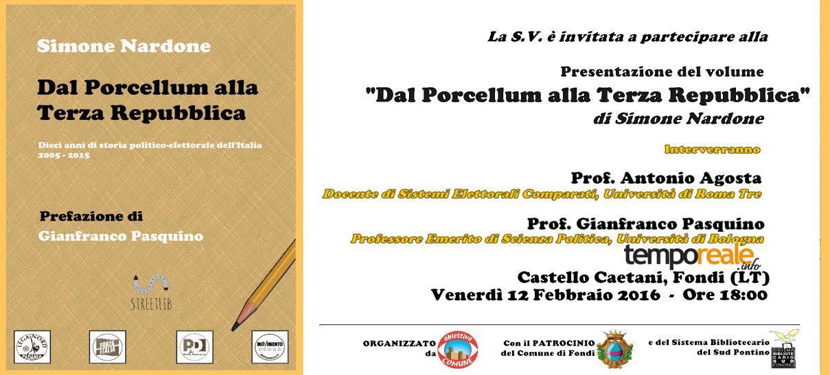 fondi libro presentazione porcellum terza repubblica