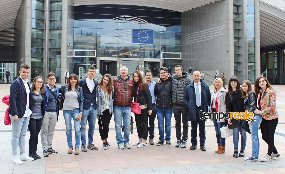 foto stage Bruxelles studenti di Fondi