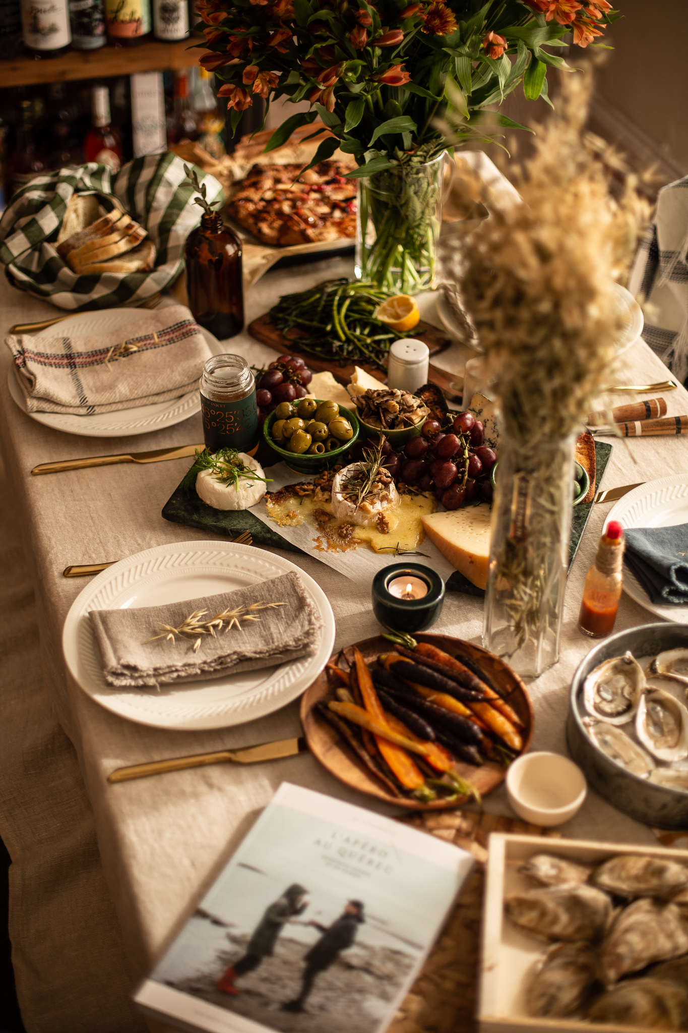 How to host a Warm and Cozy Fall dinner | Temps d'un Café