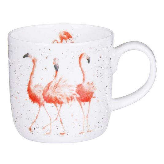 Wrendale Pink Ladies Flamingo Mug From Royal Worcester