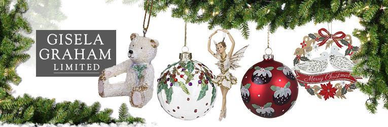 Gisela Graham Christmas Baubles And Festive Decorations