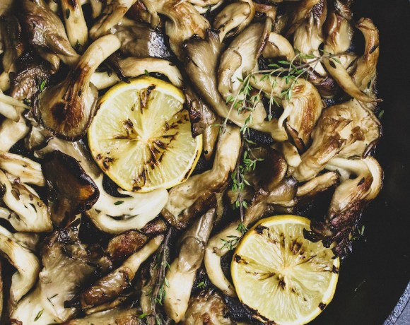 Seared Oyster Mushrooms with Lemon Butter