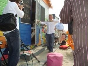 Opening strandbibliotheek Hoek van Holland