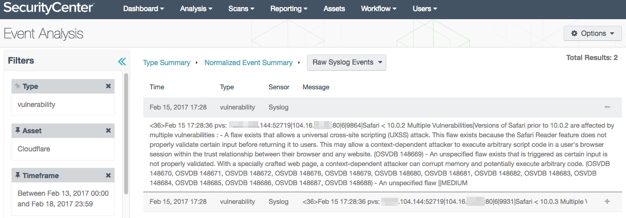 Tracking vulnerabilities with LCE