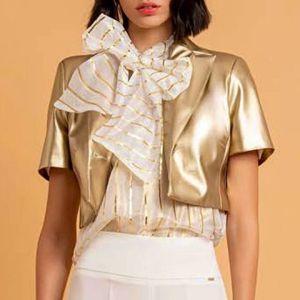 giacchino, maniche corte, dorato