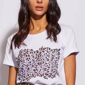 t-shirt stampa leo