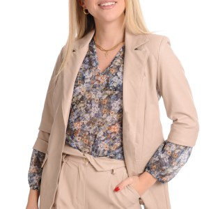 BLAZER IN ECOPELLE BEIGE