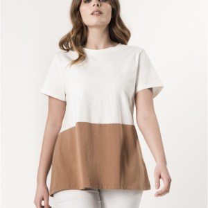 T-SHIRT JERSEY BICOLORE CURVY BY LOLA