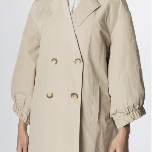 trench raining beige