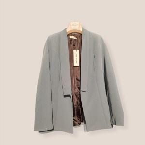 giacca blazer collo sciallato color roccia