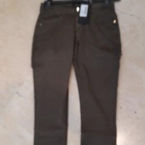 pantalone basico 5 tasche verde militare