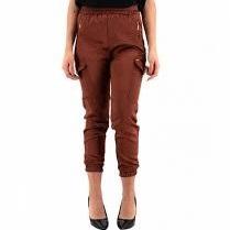 pantaloni in raso con mollettone e tasconi