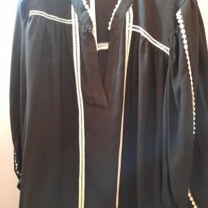 blusa black white in viscosa
