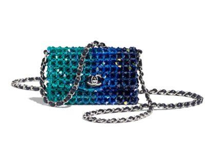 Mini sac à rabat Chanel Cristal et métal argenté