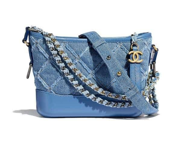 Petit sac en jean Chanel Gabrielle