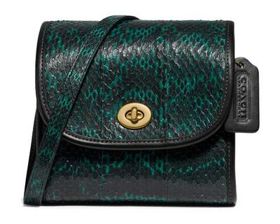 Sac Coach en peau de serpent