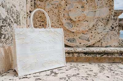 Fourre tout DiorTravel blanc